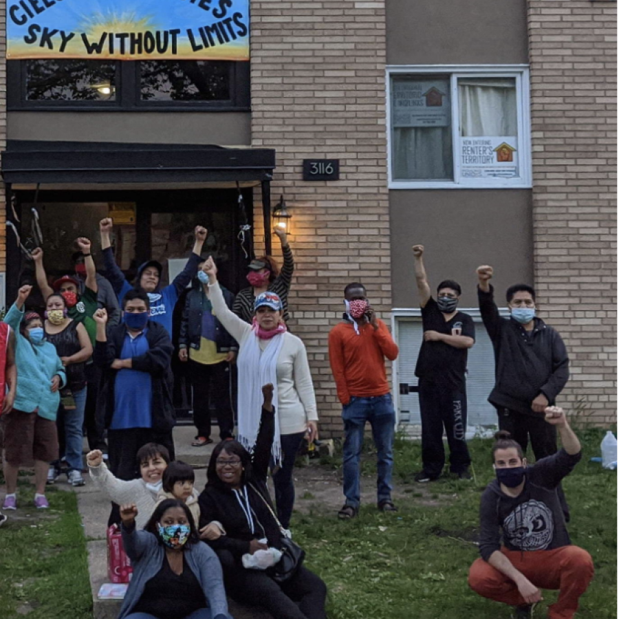 protesters-in-front-of-housing-unit